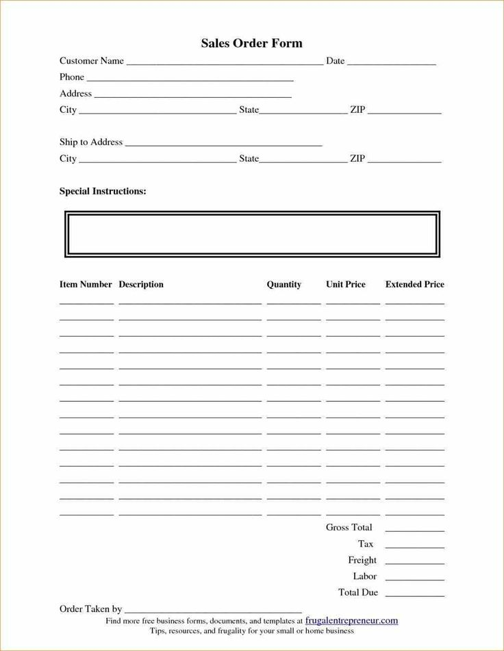Best Simple Order Form Template Word Images On