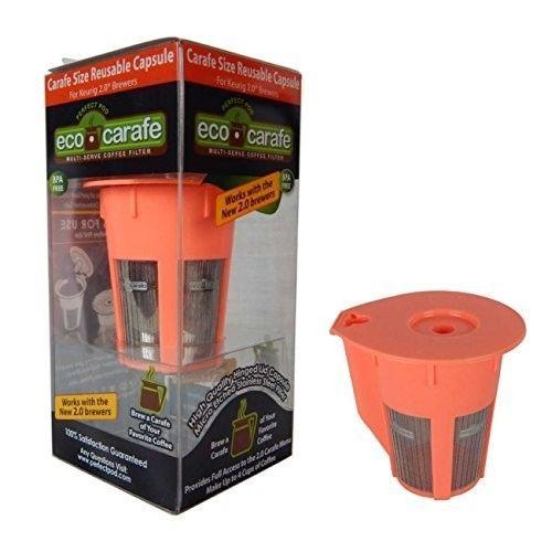 Keurig Reusable Filter Single Serve Coffee Maker 2.0 K200 K300 K400 K500 Pod New #EcoCarafe