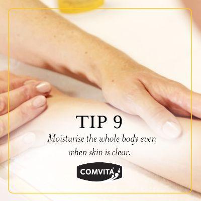 Eczema Management Tip 9  - Skin Moisture.  Moisturise the whole body even when skin is clear. http://www.comvita.co.nz/healthcare/medihoney-range/medihoney-skintensive-cream.html