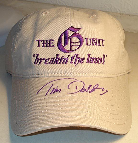 Tim Dorsey - G Unit cap. Representing with the old ladies!
