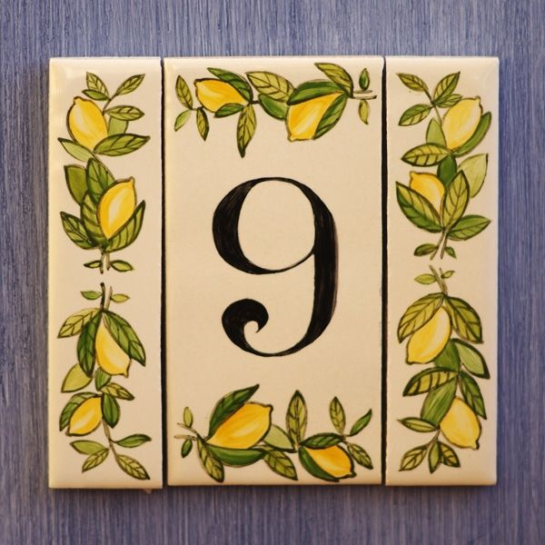 Керамическая табличка с номером квартиры CITRON