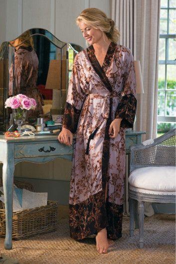 Kyoto Robe - Asian Silk Robe, Womens Silk Robe, Silky Robe | Soft Surroundings
