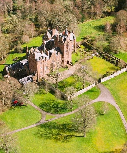 Beaufort Castle near Inverness - home to the Fraser clan until it had to be sold off due to family tragedy 1994.