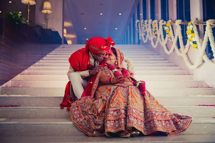 On the stairs with your lehenga spread out ! Prettiness