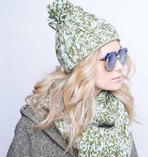 Karen Walker Scarf, Hat and sunglasses. www.madestore.co.nz #karenwalker #madestore