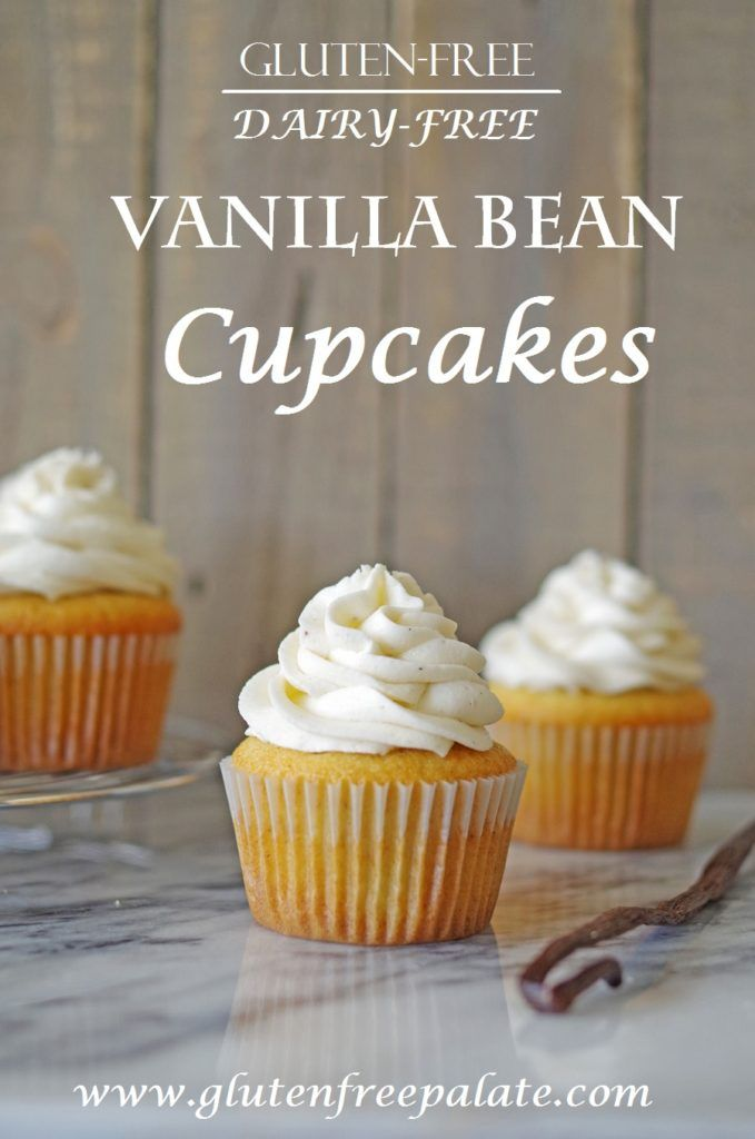 These Gluten-Free Vanilla Bean Cupcakes are dairy-free, simple to make, and lend a bakery style texture and a vanilla bean finish.