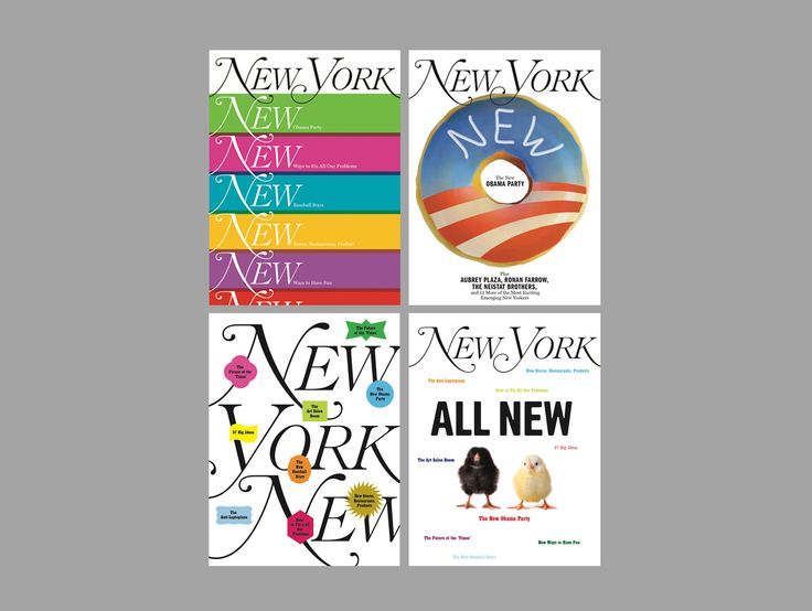 #colors #white #clean #NewYork #magazine #covers by Timothy Goodman