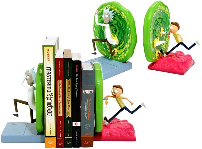 Rick And Morty Portal Bookends Rick And Morty Rick And Morty Poster Morty