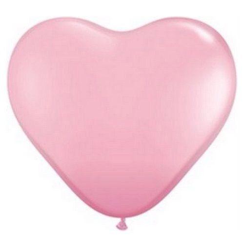 Pink heart balloon, lyserød hjerteballon. Bryllup mintgrøn og lyserød. Farvetema til dit bryllup