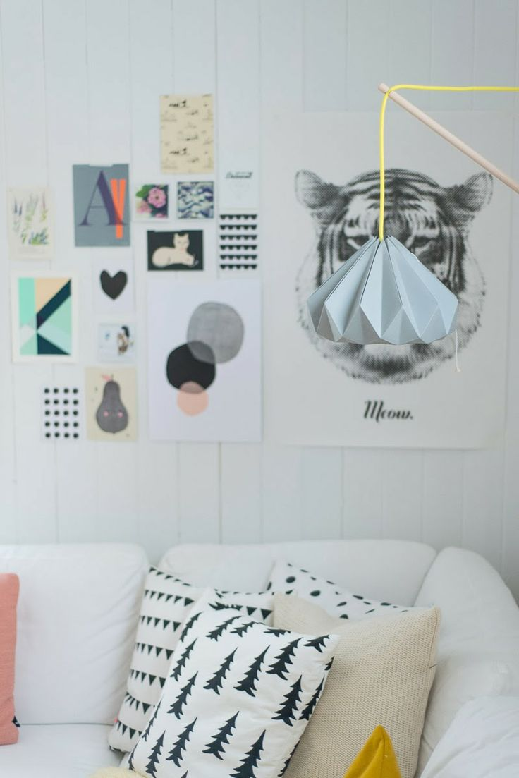 Pastels go well with bold Scandinavian patterns, textiles and graphics