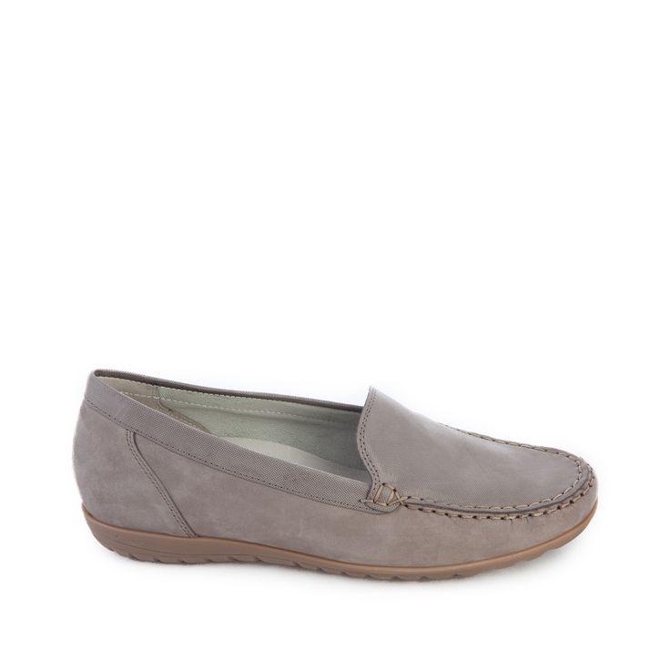 mooi instapper van het merk Wäldlaufer, taupe metallic van kleur, uitneembaar voetbed - Sluimer schoenen