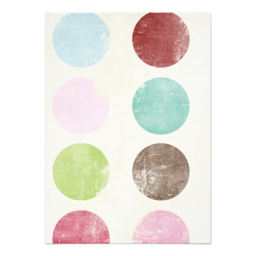 Retro whimsical teal pink brown polka dots pattern
