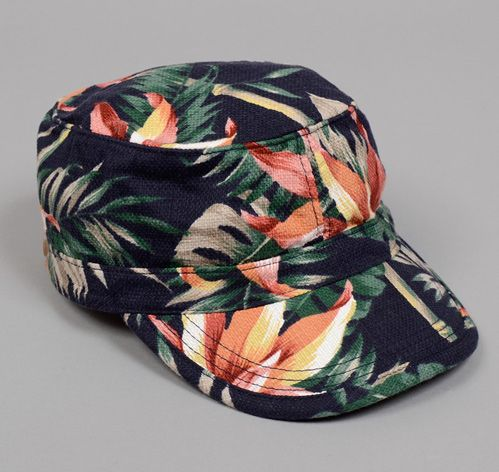 "TROPICAL VIBES | WORK CAP, NAVY ""ALOHA"" PRINT :: HICKOREE'S HARD GOODS: Style Products, Blondes Hair, Blonde Hair, Navy Aloha, Retail Theraphy, Work Cap, Hickoree Hard, Tropical Vibes, Styles Colours Fabrics Details"