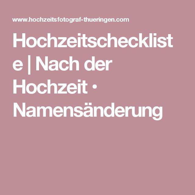 Hochzeit checkliste behorden