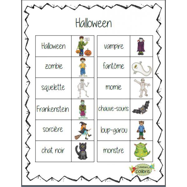 Halloween, Petits mots-étiquettes