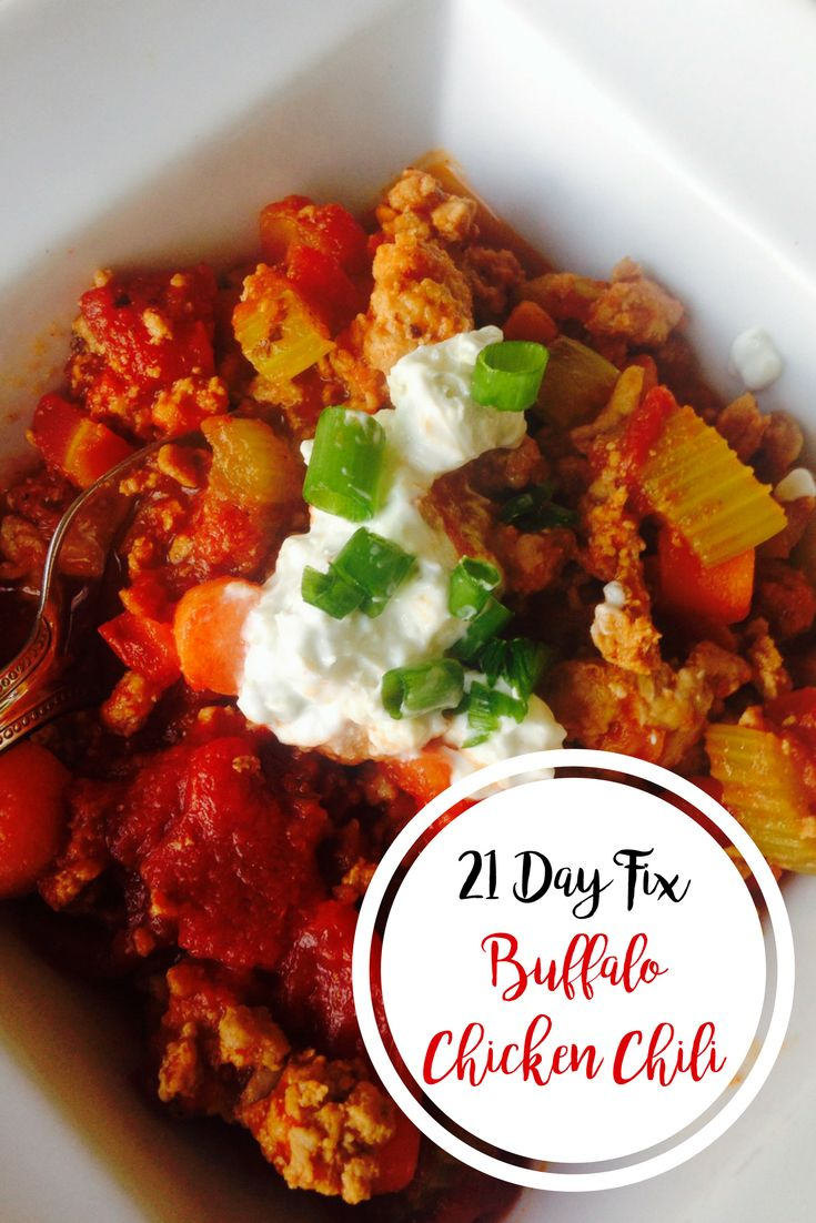 Buffalo Chicken Chili {21 Day Fix }   Confessions of a Fit Foodie
