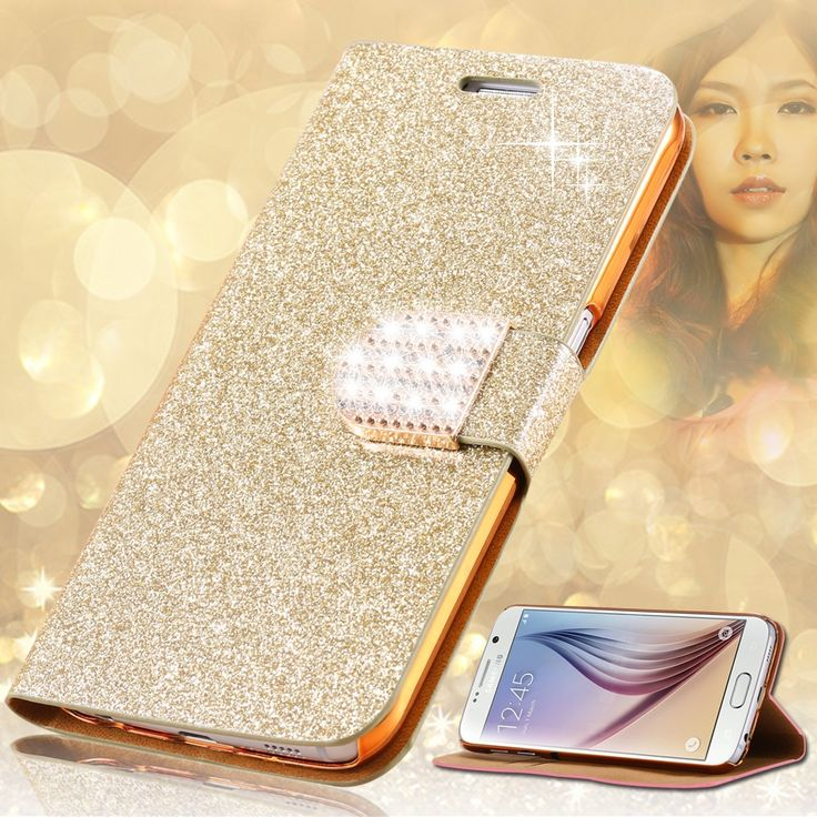 Fashion Glitter Bling Diamond Flip ๏ Leather Case For Samsung Galaxy S6 G9200/S6 ⑦ Edge G9250/S6 Edge+ Plus Card Slot Wallet CoverFashion Glitter Bling Diamond Flip Leather Case For Samsung Galaxy S6 G9200/S6 Edge G9250/S6 Edge+ Plus Card Slot Wallet Cover