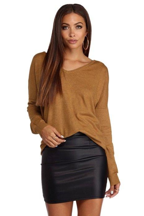 b641074820 FINAL SALE- Lattice Back Pullover Sweater Tunic