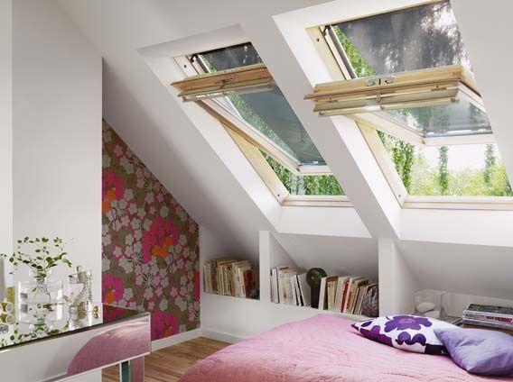 Bergruimte onder schuin dak  Interieur [ Opbergen en orde scheppen ...