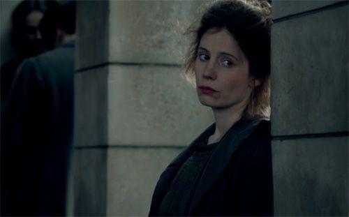 Edith lurks in the shadows on Downton Abbey Season 3 Episode 2