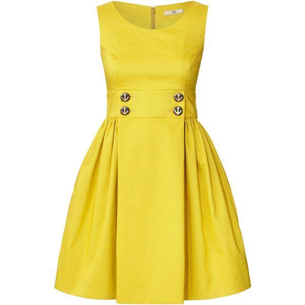 Orla Kiely Double Faced Cotton Sleeveless Dress ($435) ❤ liked on Polyvore