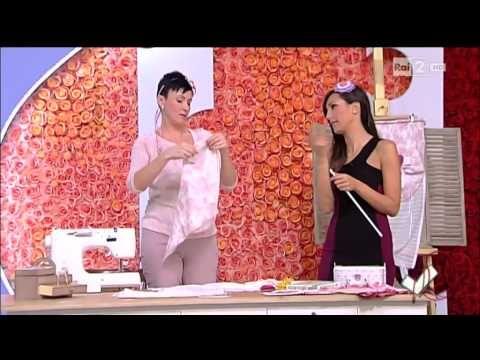 Emanuela Tonioni cuce una tenda romantica - Detto fatto del 14/02/2014 - YouTube