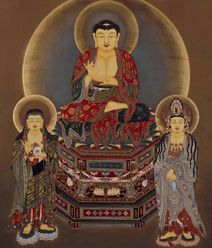 Amitabha Buddha, Three Saints
