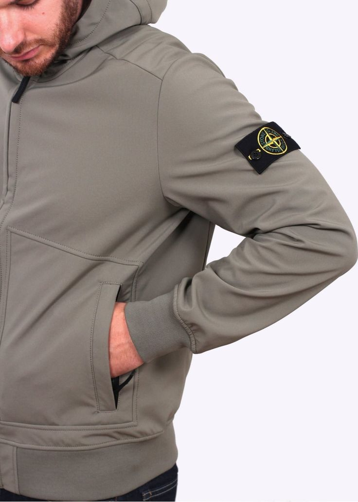 Stone Island Soft Shell-R Jacket - Sage                                                                                                                                                                                 More