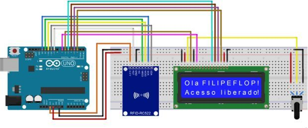 Arduino rfid read and write on LCD