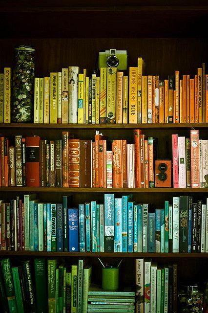 : Bookshelves, Reading, Idea, Books Worth, Colors, Rainbow
