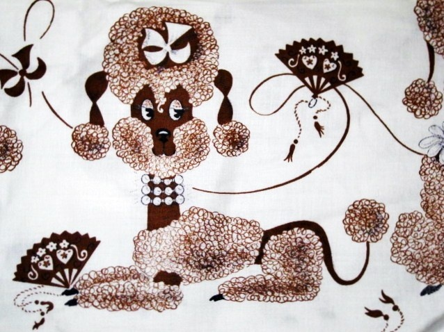 vintage poodle fabric with - photo #36