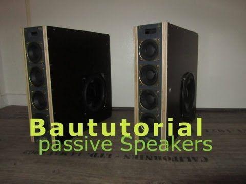 Boxenbau Tutorial kleine Passive Lautsprecher mit Subwoofer (HD) - YouTube