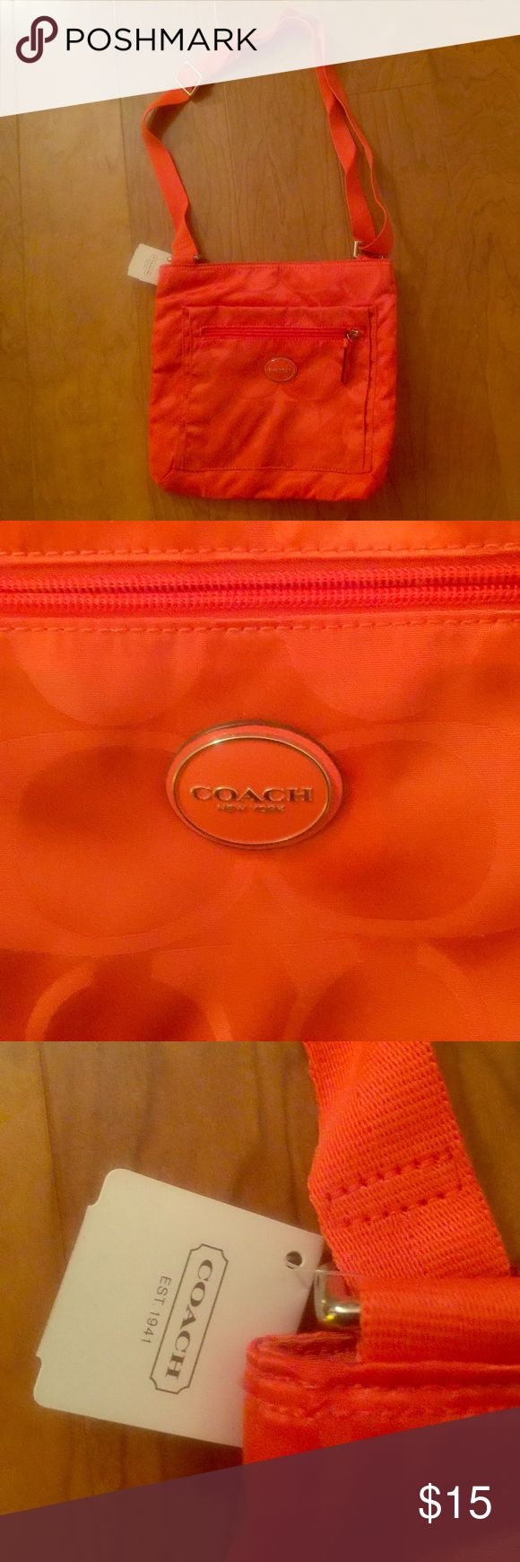 Coach Nylon Orange Purse. New With Tags Coach Nylon Orange Purse. new with tags Coach Bags Crossbody Bags