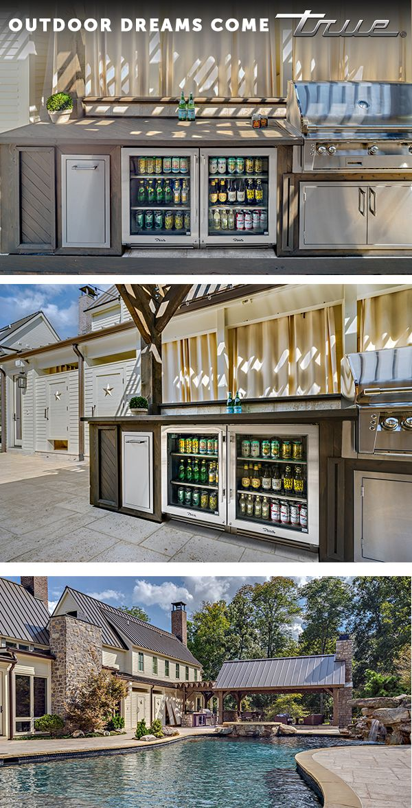 When planning your outdoor space, don't forget about cold storage. Having cold drinks, beer, and snacks is essential for any outdoor space. | True Residential