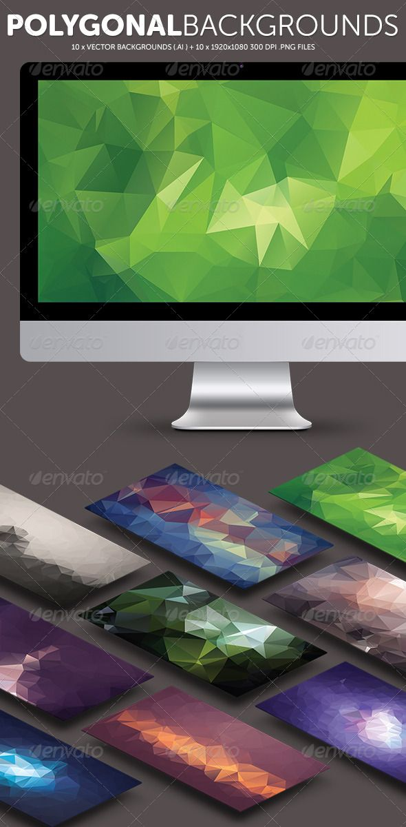Vector Polygonal Backgrounds Vol. 1
