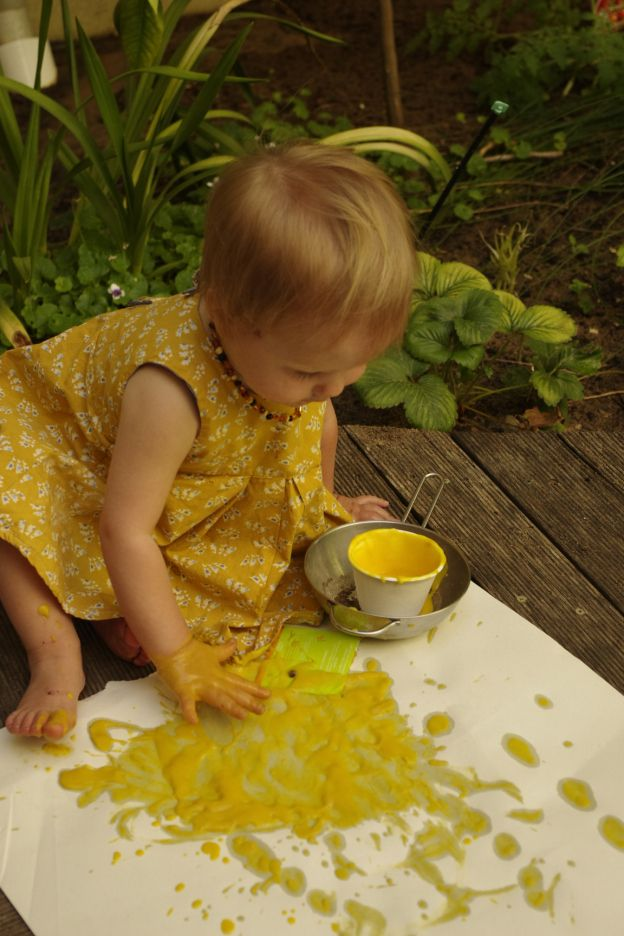 How to make toddler eco paint