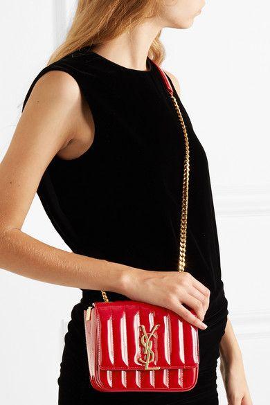 756f50667112c YSL - Vicky Small Medium in matelassé patent leather🍓🍓  handbagsforsale   handbag  handbags  shopping  clutch  purse  backpack  envelopebag   crossbodybag ...