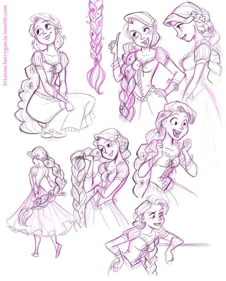 Rapunzel Sketches by briannacherrygarcia