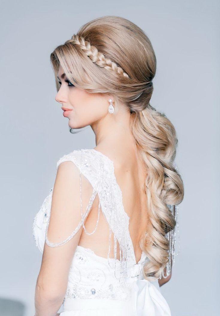Как сделать свадебную причёску на длинные волосы видео