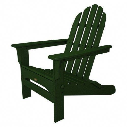 Trex Outdoor Furniture Cape Cod 3-Piece Folding Adirondack Chair Set