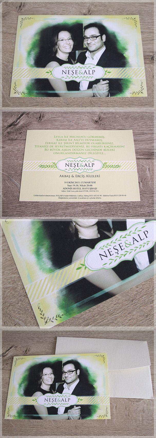 Canvas of the Sun, photography  wedding invitations. Fotoğraflı düğün davetiyesi