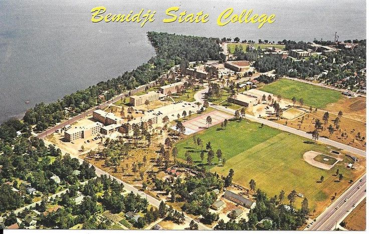 Post Card Bemidji Minnesota State College Aerial View Chrome UnPosted | eBay