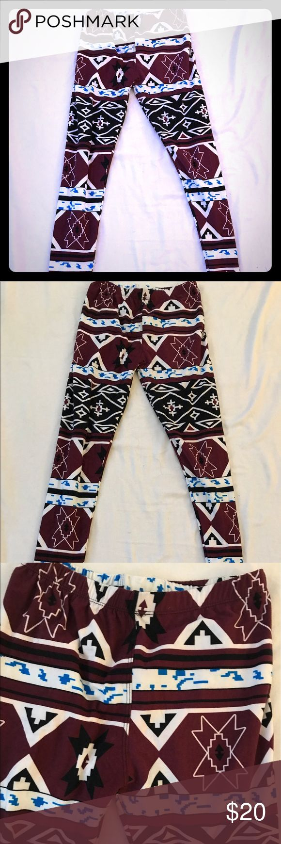 🎊cute Euc Aztec print leggings Euc Aztec print leggings Pants Leggings