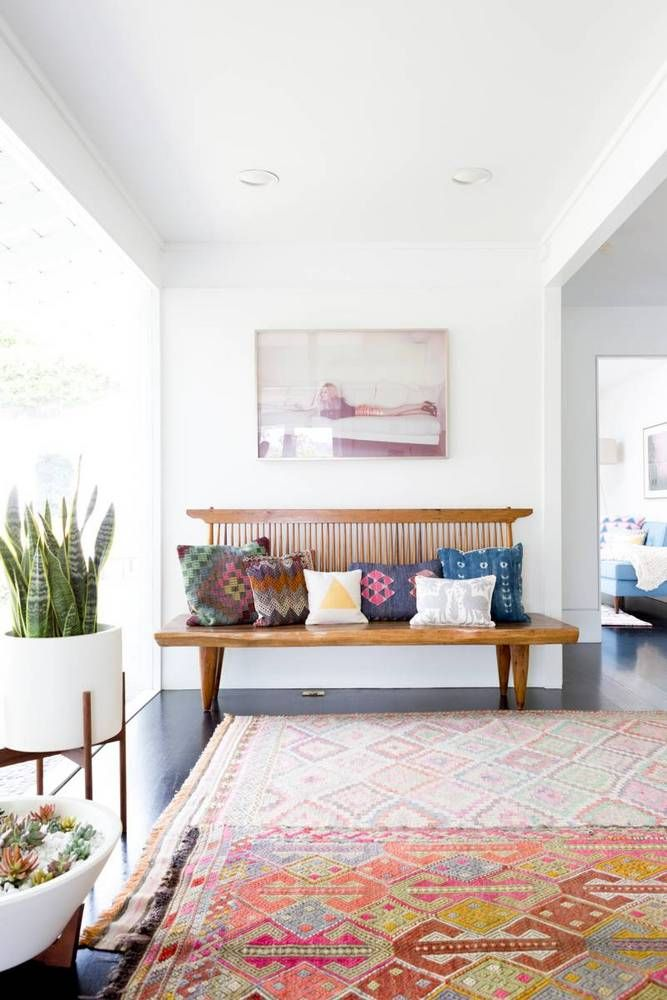 Interior Designer Natalie Myer's Laurel Canyon interior design project, featuring a luxe, bohemian aesthetic with furnishings in shades of pinks and neutrals.