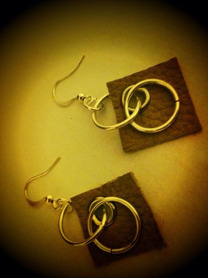Handmade leather earrings by indigirl designs