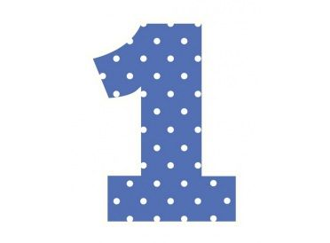 Numeric Candle, Blue Number 1 | Whish.ca