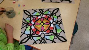 Paintbrush Rocket | 4th Grade – Four Part Symmerty inspired by Tibetan Mandalas
