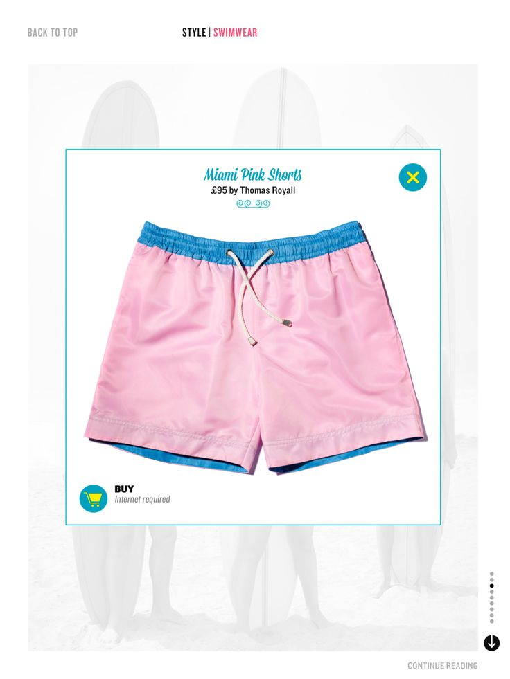 Miami Pink Shorts in Esquire Weekly | Shop the collection at thomasroyall.com