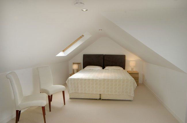 simple loft bedroom
