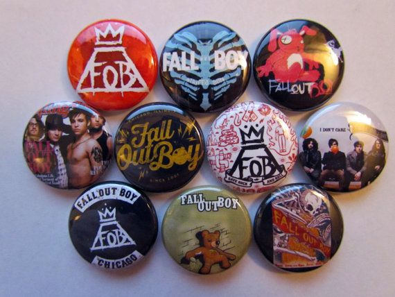 Fall Out Boy FOB Rock Band Music Pinback Button by BigButtonBoy, $3.99